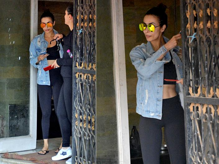 Malaika Arora and Kareena Kapoor spotted in bold look after gym session in khar Mumbai |