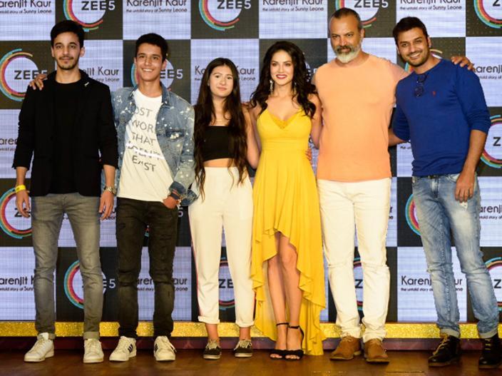 Sunny Leone at the Launch of Zee5 of Karenjit Kaur the untold story at Hard Rock Cafe andheri mumbai |