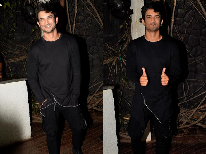 Sushant singh rajput and Sara ali khan Photos of wrap up party of movie kedarnath |