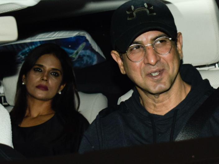 Aayush Sharma with Wife Arpita khan, Warina Hussain and B-Town Stars watch the film  