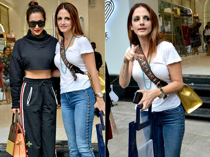 Photos: Malaika Arora and Sussane Khan spotted at bandra Mumbai |