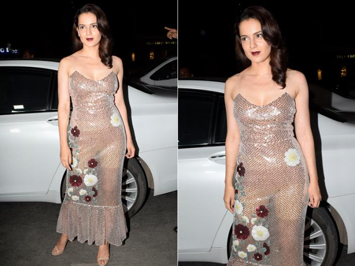 Kangana Ranaut looks So Sexy, Hot and Bold in Transparent Dress |