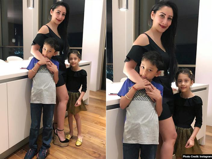 In Pics: Sanjay Dutt wife Maanyata dutt share hot Pool Photos holidaying with their children in Singapore  
