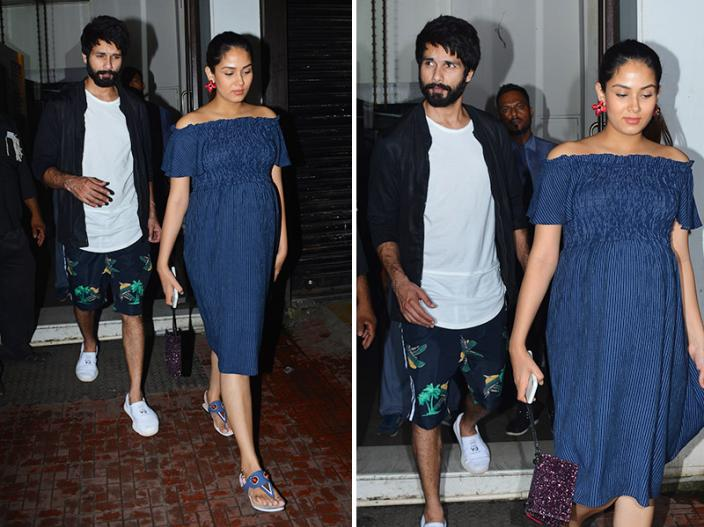 Photos: Shahid Kapoor Spotted with Pregnant wife Mira Rajput in bandra, See cute pics of this couple |