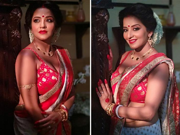 In Pics: Bhojpuri Actress Monalisa Share Hot and Bold Saree Pics on Instagram |