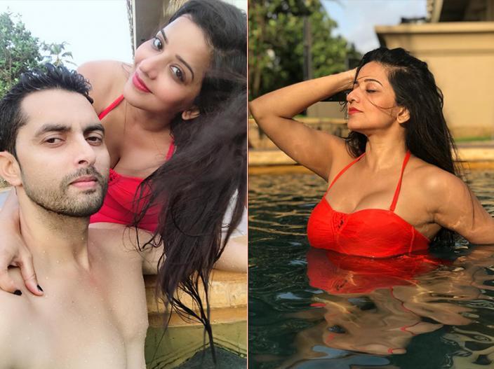 Bhojpuri Actress monalisa aka antara biswas share Sexy Bikini Photos  