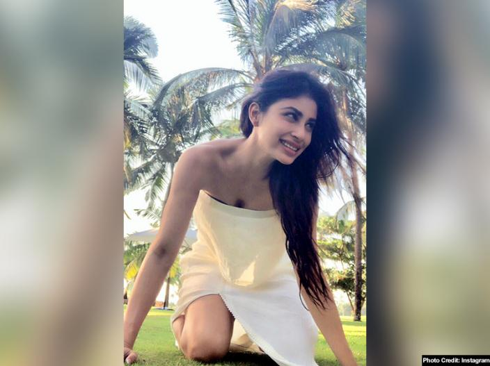 mouni roy in white dress |