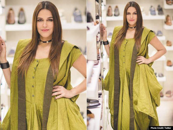 In Pics: Neha dhupia new stylish look goes viral on twitter, visit Guwahati to attend the event |