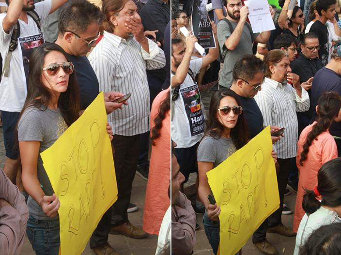 Bollywood celebs attend the protest march |