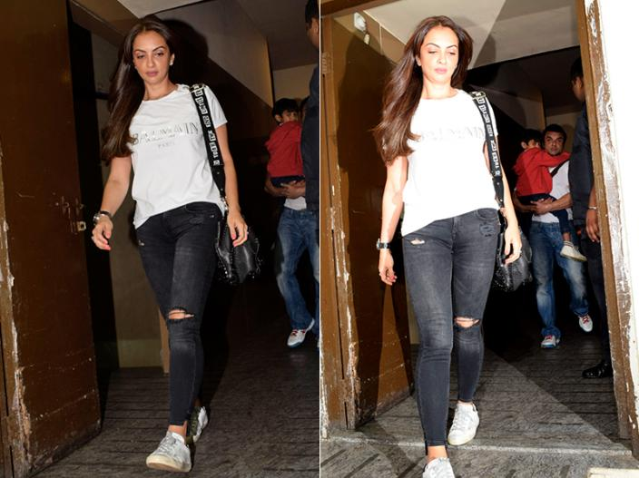 Race 3 screening: Salman Khan, Mahendra Singh Dhoni, Dasiy shah and other stars attend the special screening, see pics photos hd |