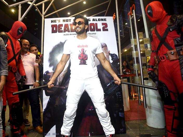 Ranveer Singh hosts a special screening of hollywood film deadpool2 |