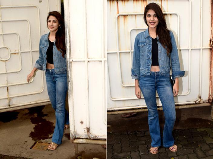 Photos: Jalebi Actress Rhea Chakraborty Spotted at sunny sound juhu Mumbai |