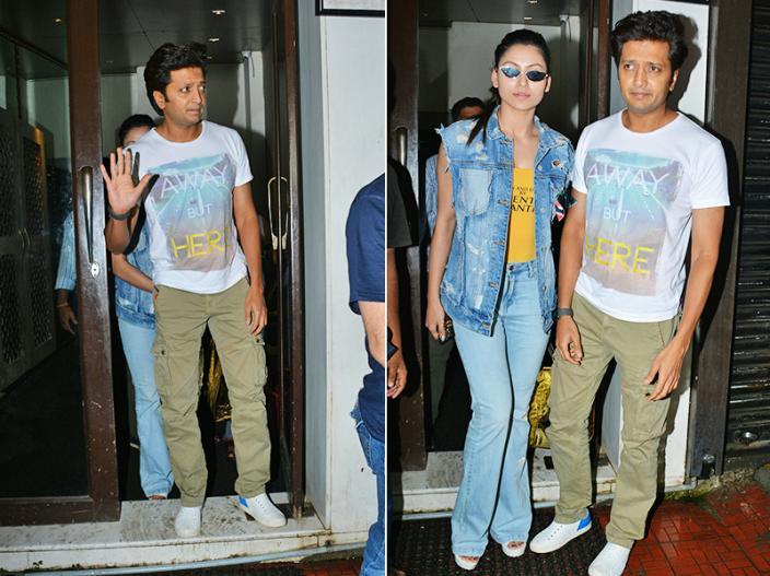 In Pics: Urvashi Rautela & Riteish Deshmukh spotted at Bastian restaurant in bandra Mumbai |