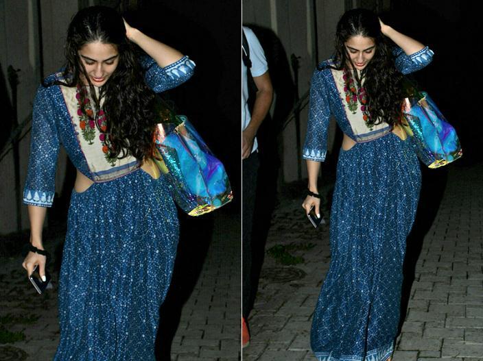 Simmba Actress Sara Ali Khan Spotted at bandra Mumbai |