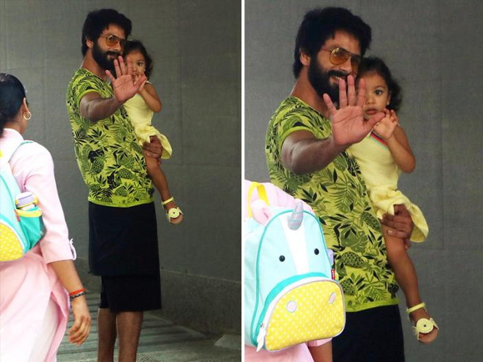 Photos: Shahid Kapoor with Daughter Meesha Reached Hospital to meet wife Mira rajput |