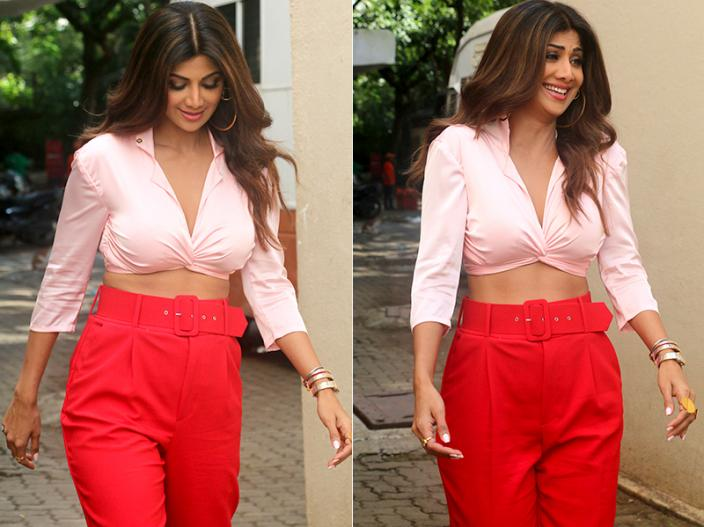 Hotness Alert: Shilpa Shetty Kundra spotted during a brand shoot at Mehboob studio in bandra |