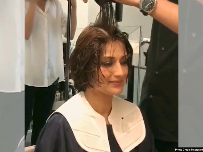 sonali bendre cut her hair for cancer treatment in new york, see her photos pics  