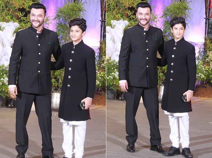 sanjay kapor with his son |