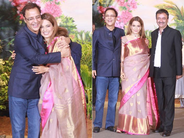 Vidhu Vinod Chopra with Kangana Ranaut and Rajkumar Hirani |