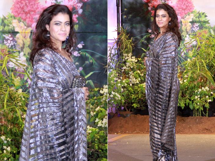 Kajol is sexy in silver and black |