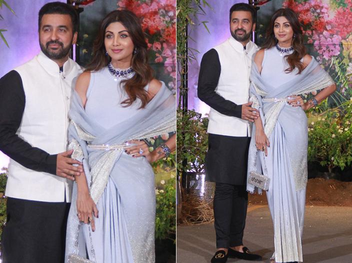Shilpa Shetty Kundra with husband Raj Kundra |