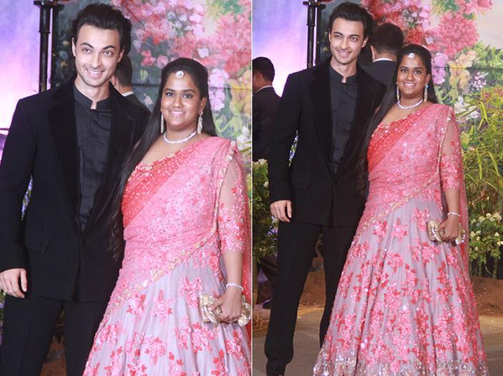 Arpita Khan with husband Ayush Sharma |
