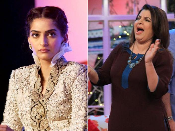 sonam kapoor and farah khan |