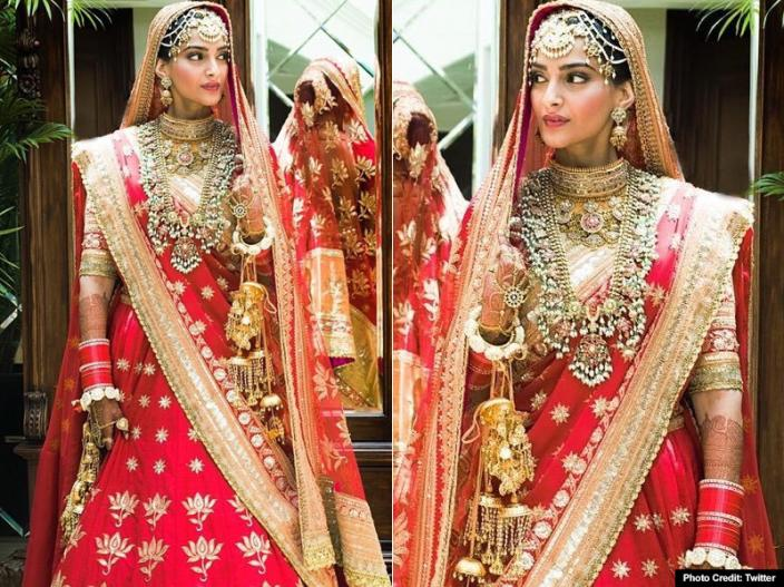 Sonam Kappor wedding bridal look |