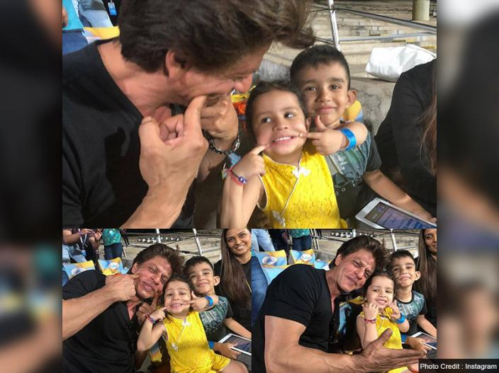 Shah Rukh Khan and ziva |
