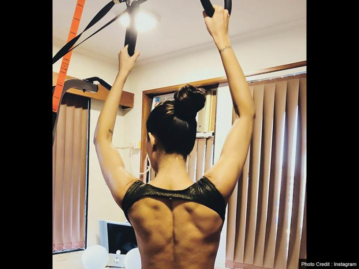 Sushmita Sen Goes Backless For Showing Her Fitness On Instagram |