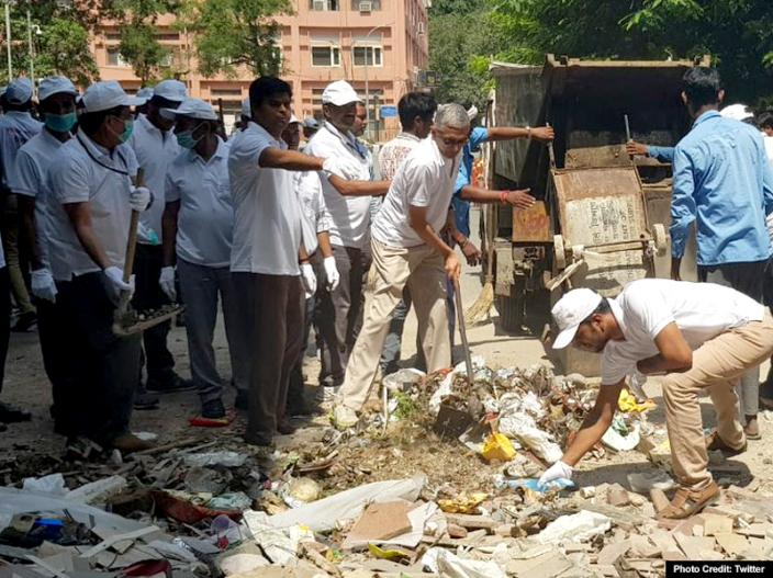 In Photos: PM Modi Launches 'Swachhata Hi Seva Movement', surprise visit to Ambedkar School in Delhi's Paharganj |